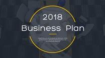 【完整框架】创意图文混排商业计划书策划书模板04