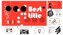 【-强烈色调对比-】极简圆形图案创意数据分析模板示例3
