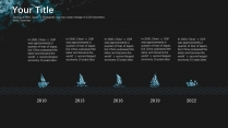 【蔚蓝海洋】墨蓝色大气简洁年终报告模板示例4