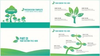 清新绿色创意可视化工作型通用模板