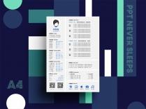 【可視化簡歷】簡約超實用的A4一頁紙&手機長圖版