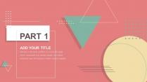 【清新几何】教育答辩文化艺术时尚画册商业策划PPT示例4