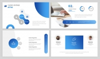 【经典商务】24P蓝色沉稳企业公司汇报PPT模板示例4