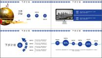 蓝色高级公司商务工作报告通用PPT示例6