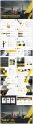 黄色大气工作报告模板合集(3)【4套共80页】示例5