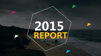 2015商务实用总结汇报PPT模板 01