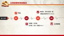 【完整框架】支部党员创新工程汇报材料PPT模板示例4