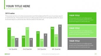 绿色清新商务汇报PPT模板示例7