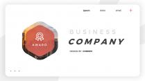 【潮流商务】红色卡片式干净简洁公司介绍PPT模板