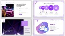 2018紫色渐变极简时尚网页风PPT模板示例4