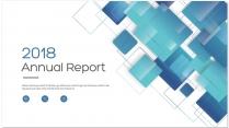 创意几何蓝色总结报告工作计划商务策划模板02