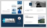 【极简风】海蓝杂志风PPT商务模板示例3