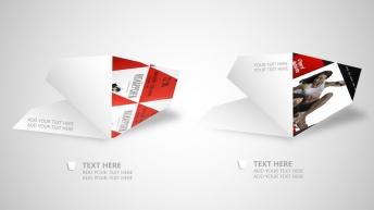 【精品】创意纸片高质感手绘图表模板【可编辑】