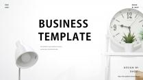 (014)極簡時間管理清新高級商務匯報PPT模板