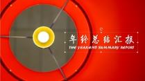 [ 新春快乐 ]喜庆大红色年终总结报告PPT模板