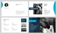 【極簡風】海藍商業計劃網頁雜志風PPT模板示例3
