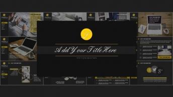 黄黑色网页风格超酷大气实用商务模板