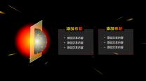 【动态】黑洞系星空科技黑红模板示例3