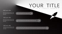 【黑白双色】简洁个性商务年终报告极简风格ppt示例6