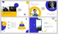 【时尚商务】黄蓝活力明快产品介绍PPT模板示例3