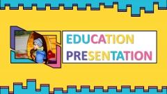 多彩卡通欧美创意实用教育模板