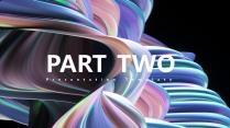 【3D螺旋】科技视觉创意文化大气通用提案模板示例4