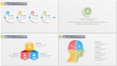 手绘&微立体风格商务PPT模板70示例7