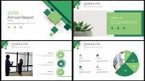 创意几何绿色总结报告工作计划商务策划模板03示例3