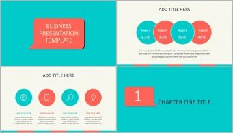 不一样的小清新:简洁实用商务汇报总结PPT模板