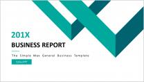 简约清新通用商务报告模板 第16弹|绿色