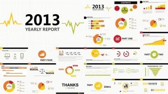 大气简约实用商务图表报告大合集(含100套图表)示例3