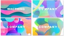 【抽象艺术】创意几何现代商务工作总结模板【含四套】
