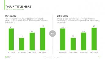 绿色清新商务汇报PPT模板示例6