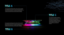【黑色商務】簡潔黑藍色商務科技報告模板 02示例7