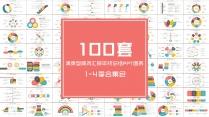 100套清爽型商务汇报年终总结PPT图表合集