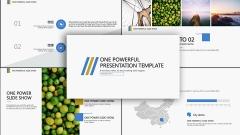 【精致商务】经典黄蓝配色设计感模板示例2