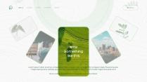 【环保】简约商务清新薄荷绿色PPT模板示例6