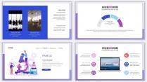蓝紫插画风商务年终汇报PPT模板示例4