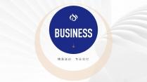 【经典商务】潮流蓝桔商务科技实用主义PPT模板8