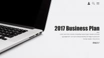 【耀你好看】点线灰白精致商业计划书3