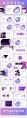 2018紫色渐变极简时尚网页风PPT模板示例8