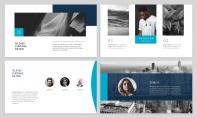 【極簡風】海藍商業計劃網頁雜志風PPT模板示例4