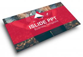 红色简约时尚精致商务总结汇报PPT模板