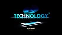 【黑色商務】簡潔黑藍色商務科技報告模板 02示例2