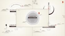【5套装:素雅简约线条商务模板】极简创意时尚文艺范