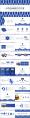 蓝色高级公司商务工作报告通用PPT示例7