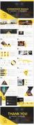 黄色大气工作报告模板合集(3)【4套共80页】示例6