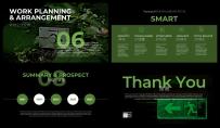 【完整框架】绿色炫酷年度工作计划总结通用模板示例6