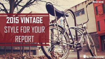 【Vintage第二弹】复古时尚创意商务汇报PPT