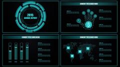现代 科技 动感 蓝色 商务 金融 创意 PPT